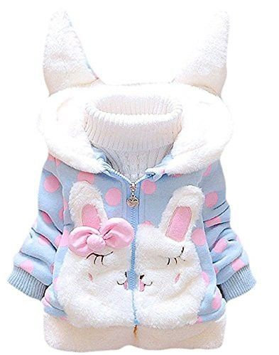 Garsumiss Baby Girl Jacket Thick Winter Hoodie Rabbit Bunny Coat Toddler Outerwear #babyouterwear