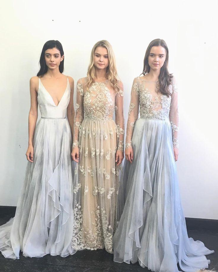 Beaded light blue and cream wedding dress from Denver Bridal Shop, Emma & Grace Bridal Studio ||  Leanne Marshall Wedding Dress || See more at Emmaandgracebridal.com #LM #LeanneMarshall #bride