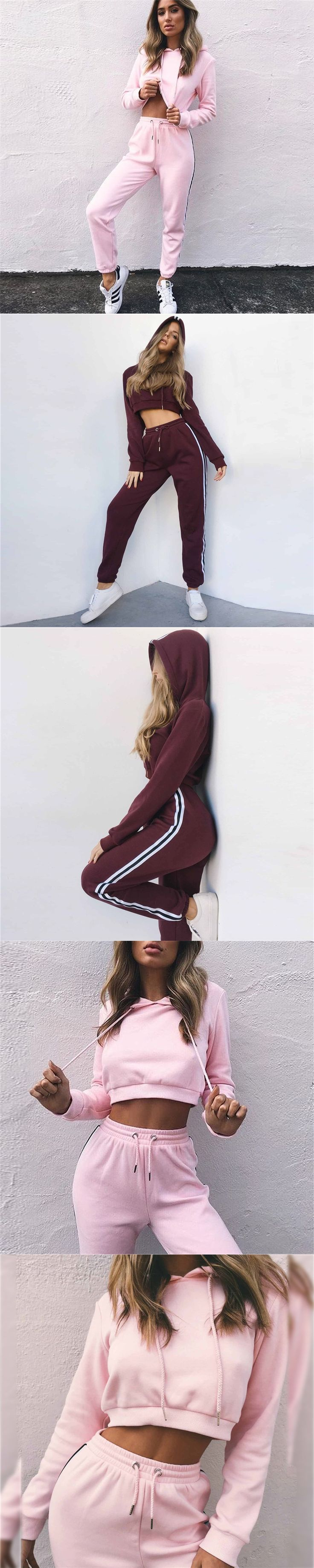 Hot Sale Women's Hoodies Casual Pants Two Piece Set Sporting Tracksuit Fitness Set Suits for Women Winter Knitted Tracksuit