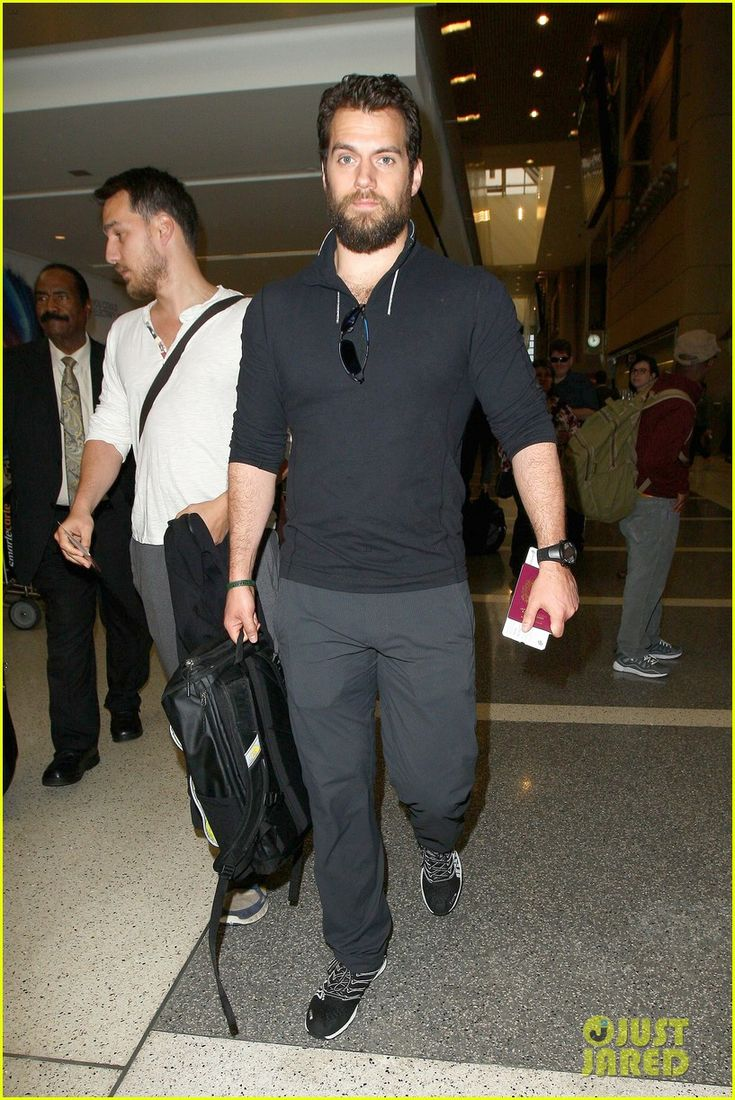 Henry and Charlie Cavill at LAX