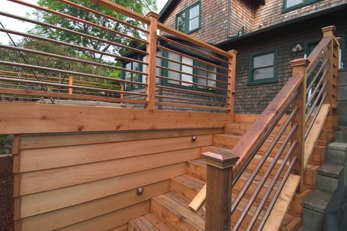 Do It Yourself Home Design: Copper Pipe As Horizontal Stair Railing