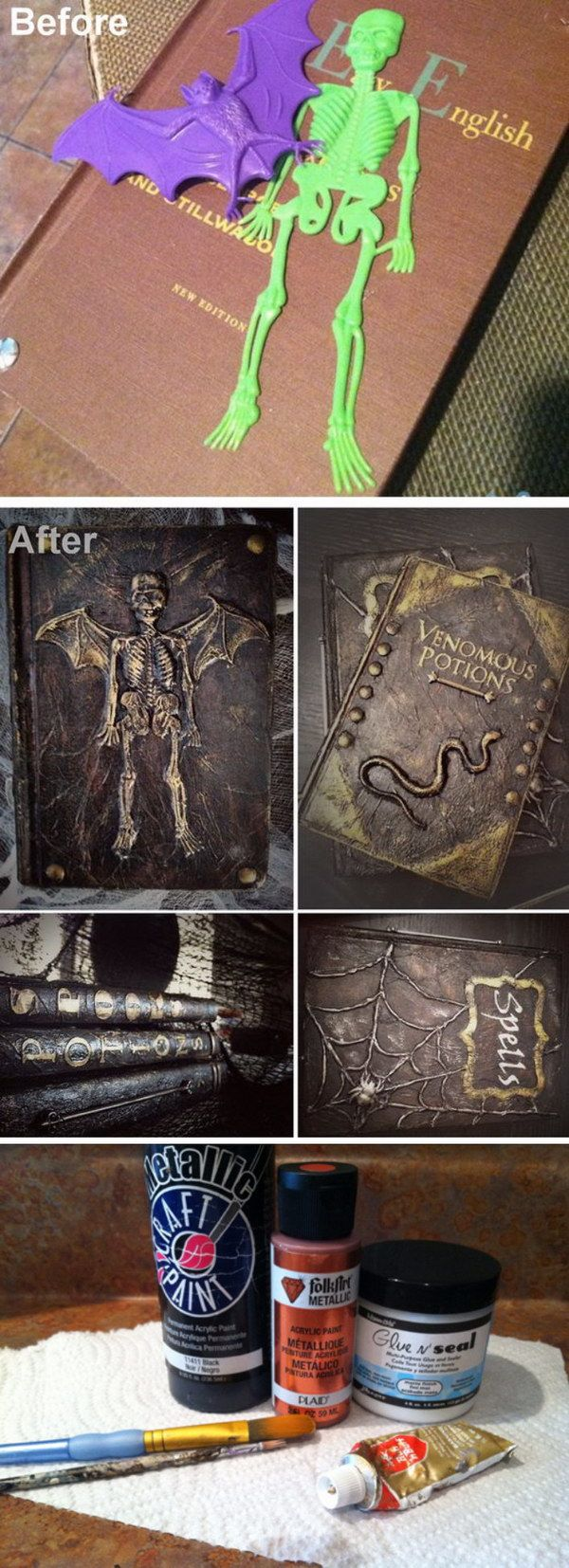 DIY Spell and Potion Book Tutorial.    Collection of 30 ideas
