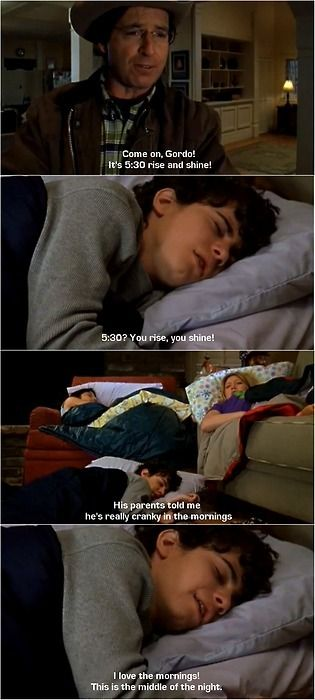 His parents told me he's really cranky in the mornings. / Lizzie Mcguire - Disney
