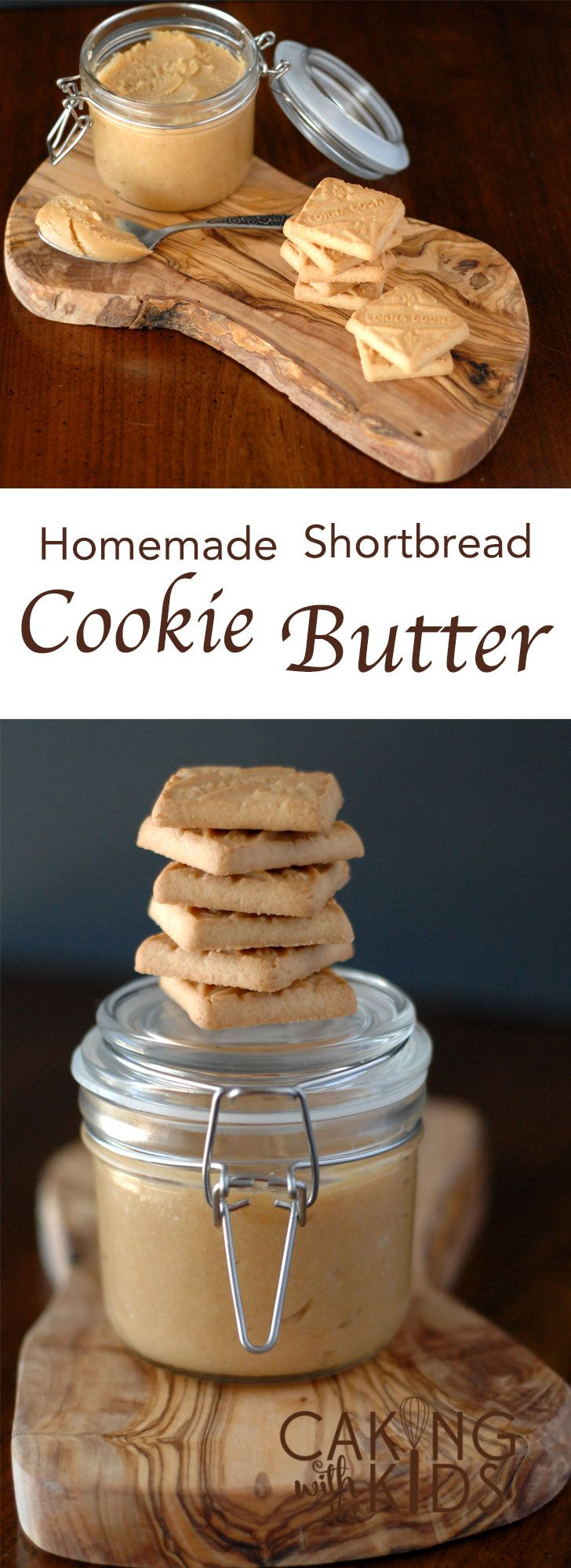 How to make a Homemade Cookie Butter with shortbread Lorna Doone Cookies. A deliciously versatile recipe.  via @Caking with the Kids