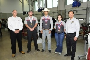 San Jacinto College students rank top three in Toyota automotive skills in Texas