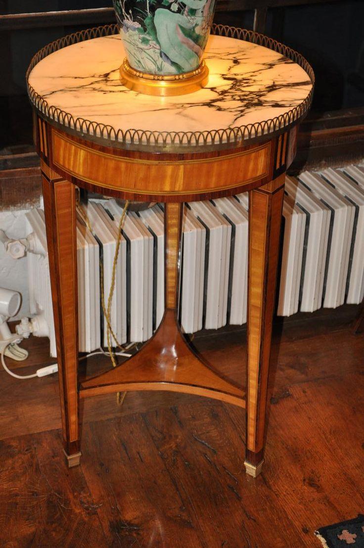 Mid century wheat sheaf coffee table irish antique dealers - Gu Ridon En Marqueterie D Poque Louis Xvi Gu Ridons