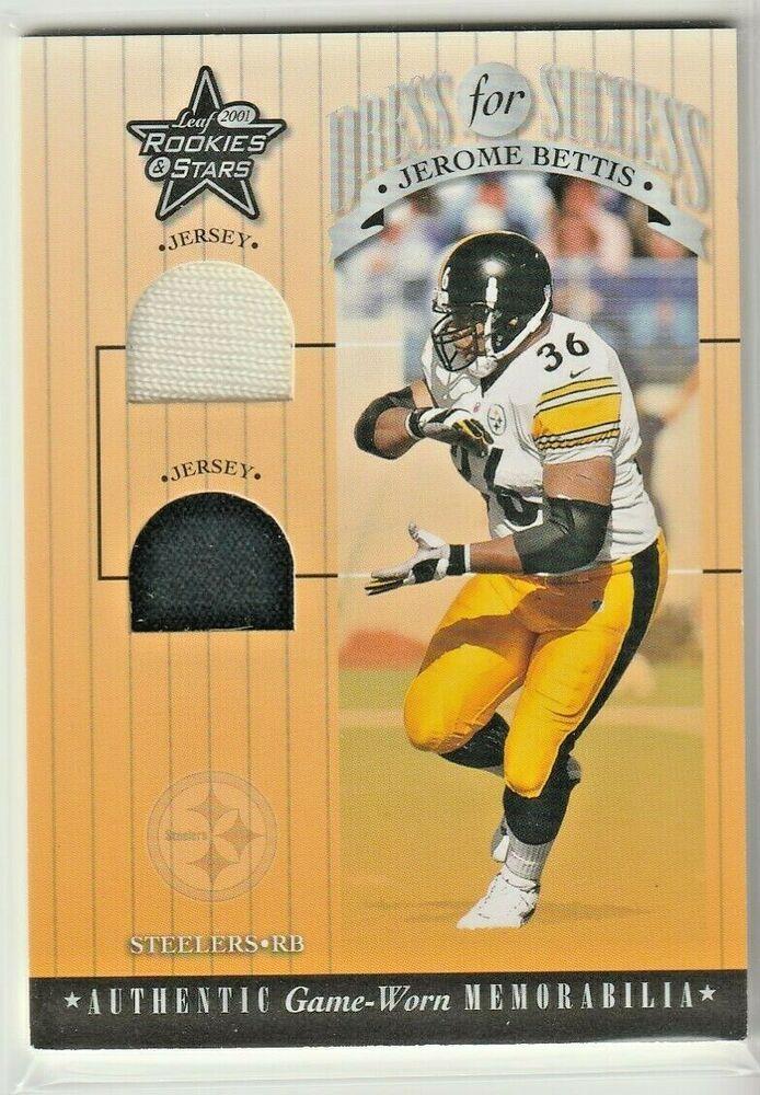 buy popular b03f8 de3e1 2001 Jerome Bettis HOF Donruss Dual Jersey Card Pittsburgh ...