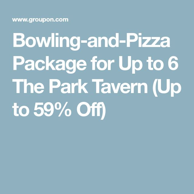 Bowling-and-Pizza Package for Up to 6 The Park Tavern (Up to 59% Off)