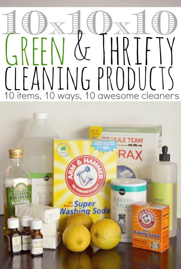Just 10 different household items mixed 10 different ways can make 10 awesome cleaners.
