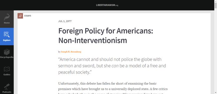 Happy U.N. Opposition Day! This LP News article examines how the libertarian principles of America's founders imply a foreign policy of non-interventionism. Like individuals, our political systems have authority to intervene in other systems' respective jurisdictions ONLY either contractually or defensively, but NEVER aggressively. But, unlike individuals, political power to engage in foreign diplomacy and/or national defense is limited to what's contractually delegated by citizens.