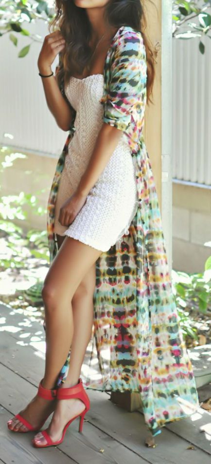 Boho Maxi Cardign Dress ♥