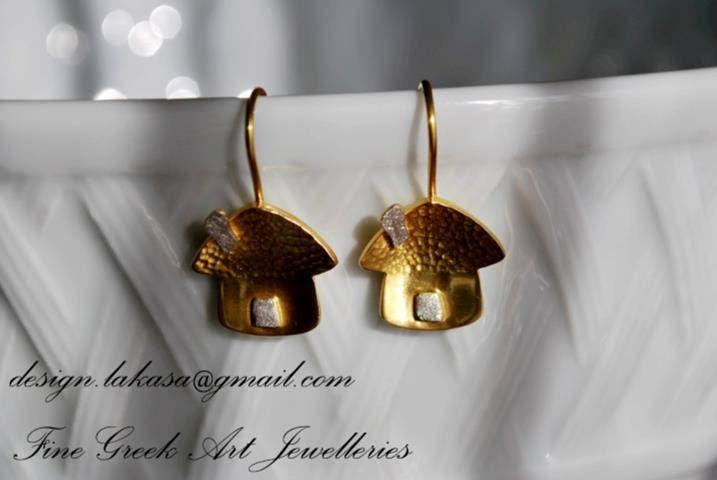 Sweet Home earrings sterling silver gold plated Lakasa eshop Jewelry Gifts for her birthday best ideas woman day anniversary birthday love #earrings #jewelry #home #sweet #joyas #mujer #woman #moda #silver #jewellery #bestideasgifts #forher #anniversary #birthdaygifts #princessjewellery #birthday #σκουλαρικια #σπιτι #νοσταλγια #κοσμημα #χειροποιητο #ασημενια #ασημι