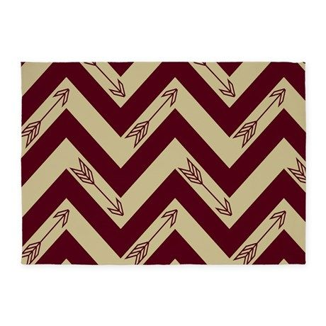 Garnet & Gold Arrows 5x7'Area Rug on CafePress.com would love to do the baby's room in Garnet and Gold! Too bad I married a Bulldog fan!!
