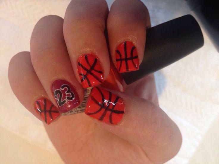 Basketball Jordan nails #nailart 23!