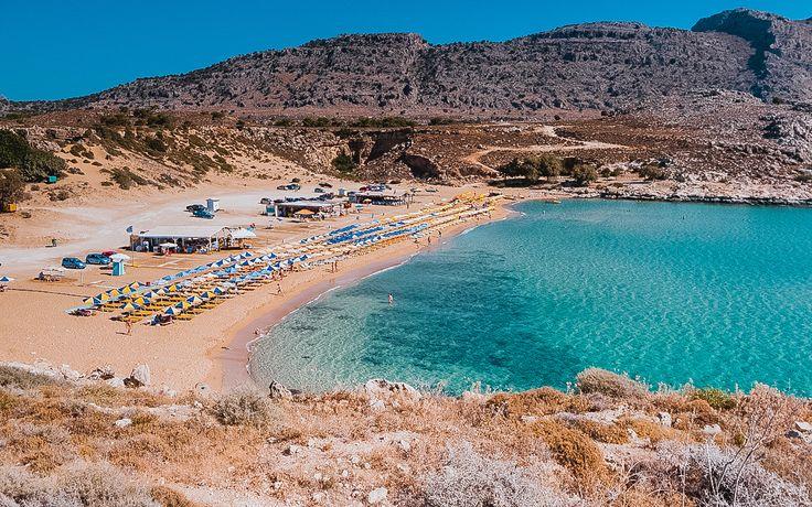 Agathi golden sand beach.