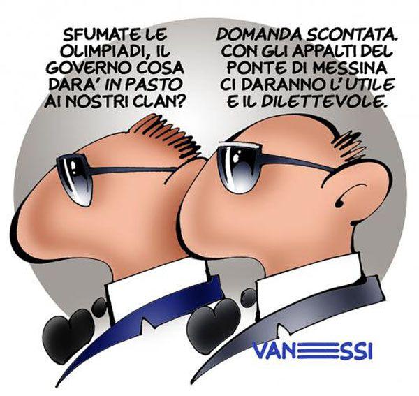 ITALIAN COMICS - ...a proposito del Ponte sullo stretto di Messina...
