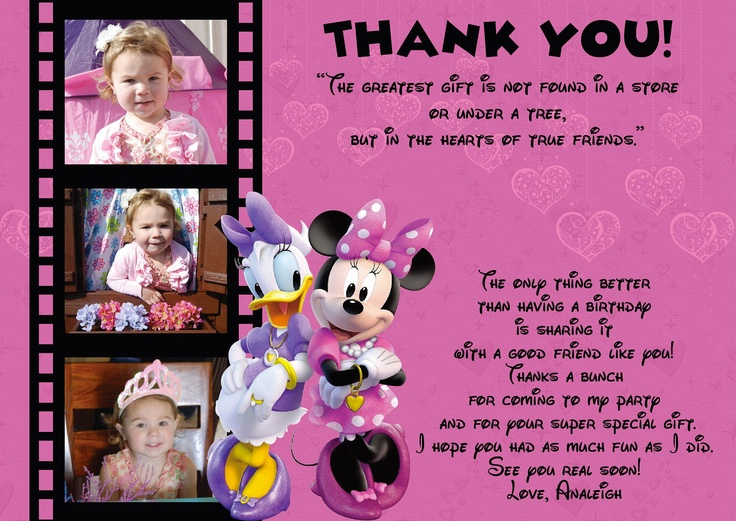 use this wording for thank you cards  peyton's 2nd