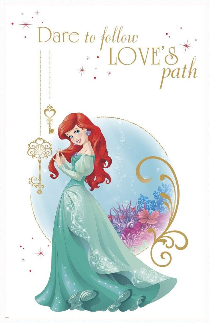 28 best disney princess printesele disney images on pinterest create a dazzling display in your little ones room with this disney princess ariel wall decal amipublicfo Images