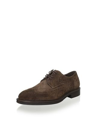 75% OFF testoni BASIC Men's Brogue Oxford (Dark Brown)