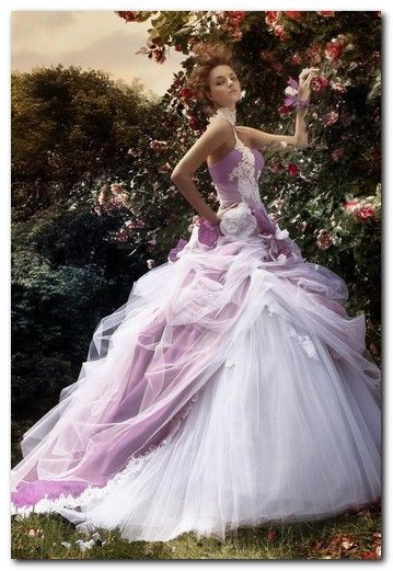 Purple ombre wedding gowns google search weddings for Purple ombre wedding dress