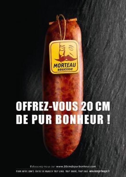 Saucisse de Morteau ad by Marc Pouillard / Agence Dartagnan