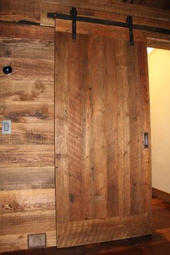 Hereu0027s a beautiful ex&le of a sliding barn door made from resawn reclaimed lumber.  & 32 best Sliding Barn Doors images on Pinterest | Reclaimed lumber ...