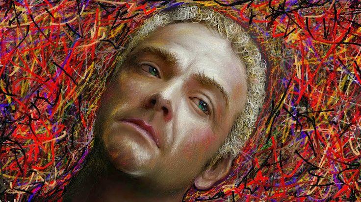 PCペイントで絵を描きました! Art picture by Seizi.N:   先日に桜と女性の絵を描きましたが、どうもコンピューター人間みたいなゲームの中にいそうな女性の絵でしたので、本日は絵画風の光と影を強調して男性の肖像画をお絵描きしてみましたが、やっぱり綺麗に描こうとするとコンピューター人間みたいですね、もっとタッチを荒くすればよかったかな?残念です。  SOLIDEMO / 上を向いて歩こう(坂本九 Cover) http://youtu.be/Y4yZB1O0EUQ