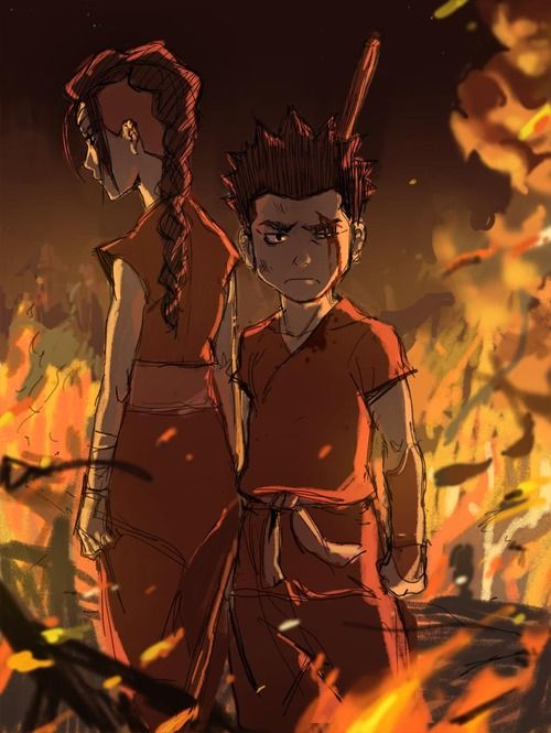 young P'li and Zaheer | Avatar the Last Airbender and ...
