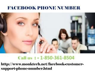 Is Facebook Phone Number Really A Supportive Service? 1-850-361-8504 When you create a Facebook account password, make sure that it contains at least 6 characters. Try to use complex but easy to remember combination of numbers, letters and special symbols and make your account password strong. If still you have any problem pertaining to your account password then we are here for your service. Call on our Facebook Phone Number 1-850-361-8504 right now. For more visit us our website for…