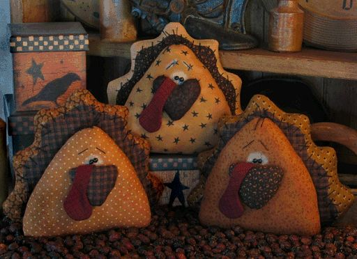 Primitive Turkey Ornies - Primitive Crafts