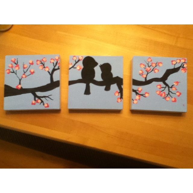 a three canvas painting i did