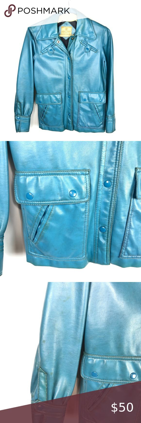 Vintage World Fashion by Dori Faux Leather Jacket in 2020