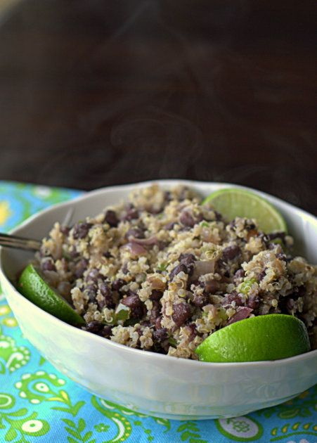 Budget-friendly black beans and quinoa   Kitchen Treaty