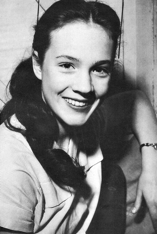 A young Julie Andrews (with long hair)
