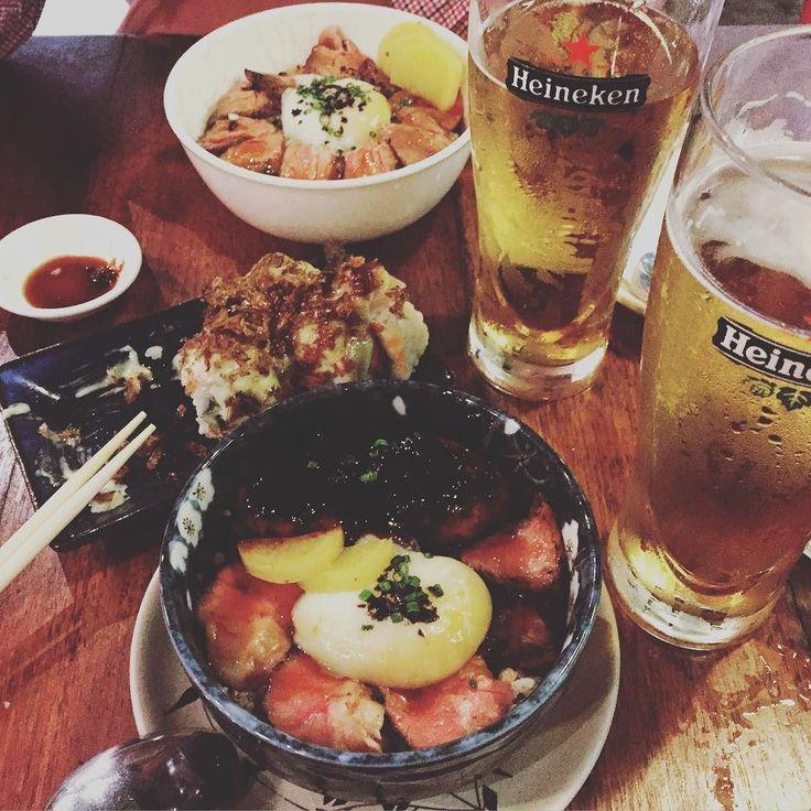 new fav hangout! love their donburis!  #tanukirawbar #truffleyakinikudonburi #foiegras #beers #aburi #cafesg #foodie #instafoodie #livetoeat #sushi #tmsceats #wednsdates by the_morningstar_cafe