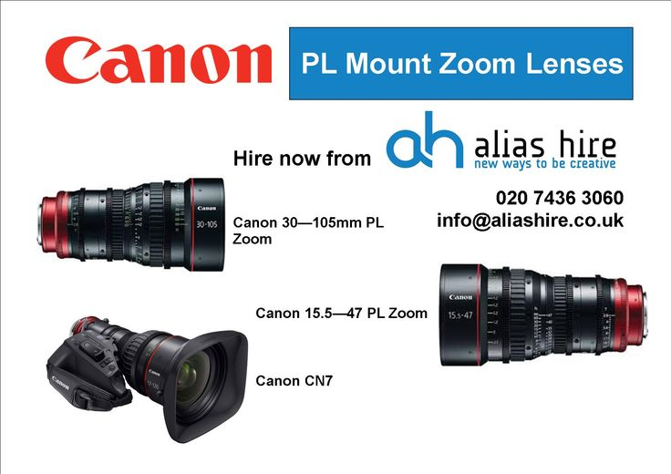 Our Canon PL zoom range