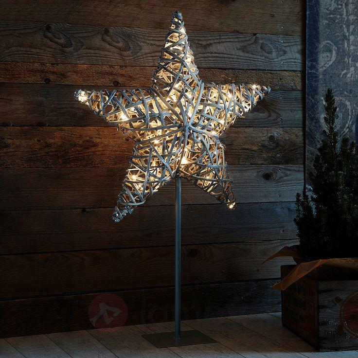 Ratanowa gwiazda dekoracyjna BERG z LED 6507442