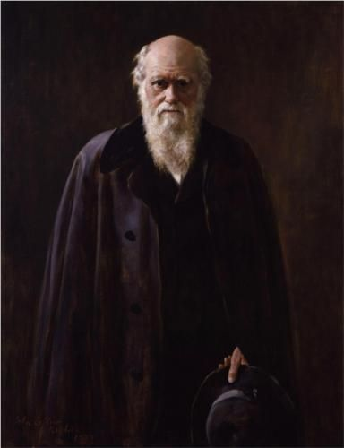 John Collier (British: 1850-1934) | Portrait of Charles Robert Darwin