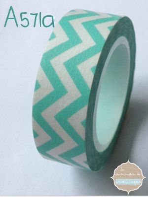 Washi Tape chevron turquesa