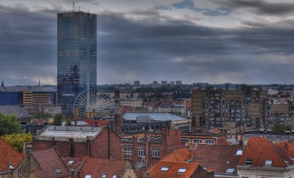 Brussels skyline seen from Poelaertplein