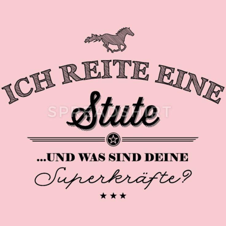 Superkräfte Stute – schwarze Edition Frauen Premium T-Shirt – Grau meliert
