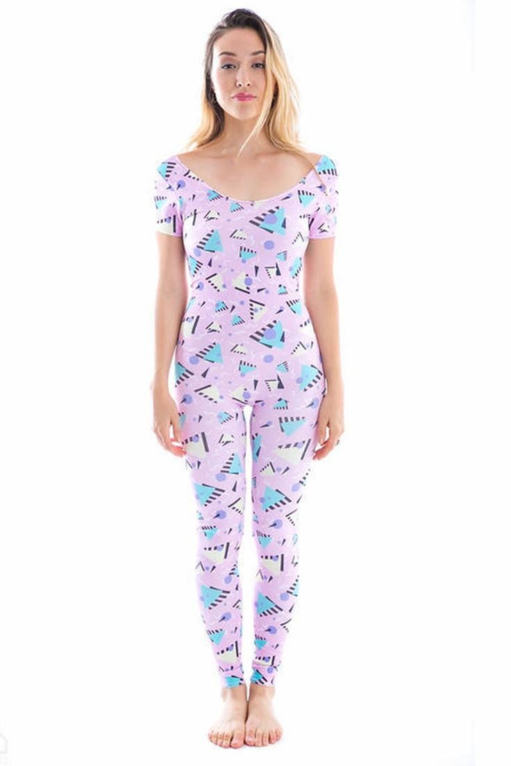 Pink Triangles Jumpsuit Onesie - shortsleeve