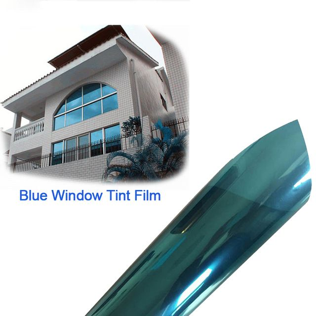 100x30cm One Way Reflective UV-proof Mirror Window Film Insulation Film Tint Self Adhesive Sticky Sticker Silver/Blue/Gold