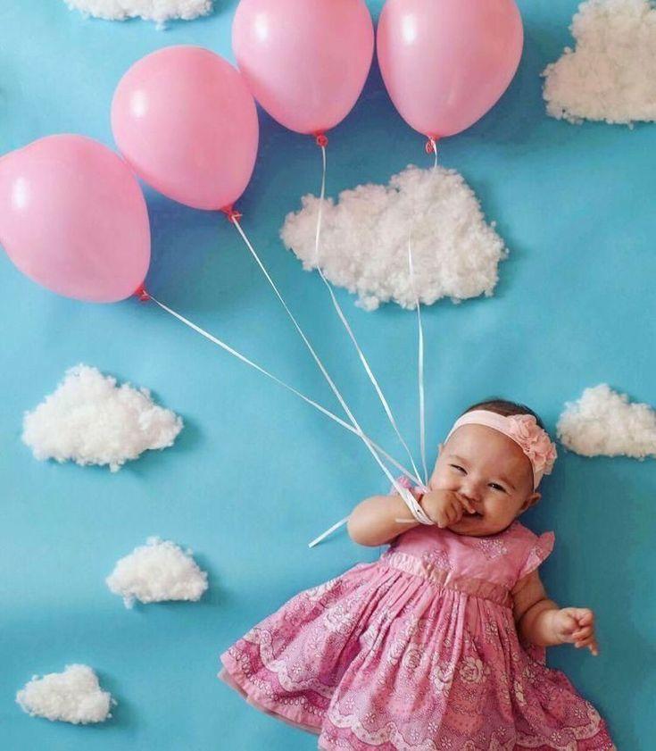 Meilleures idées de séance photo pour bébé à la maison   – Baby girl pics