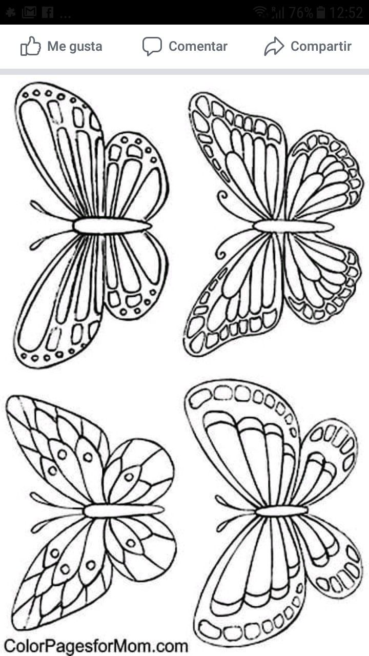 Pin de ingrid en arte dibulos   Como hacer mariposas, Mariposas de ...