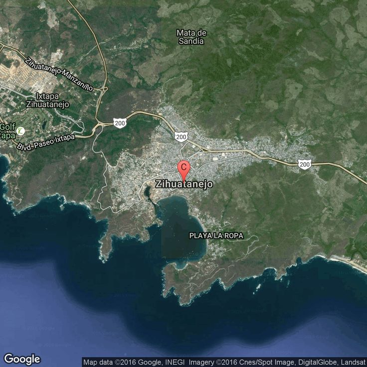 Map Acapulco Mexico%0A A planned resort area on the Pacific coast of Mexico  Ixtapa lies about  halfway between
