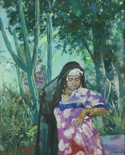 Jacques Majorelle - La femme aux bijoux, à Marrakech