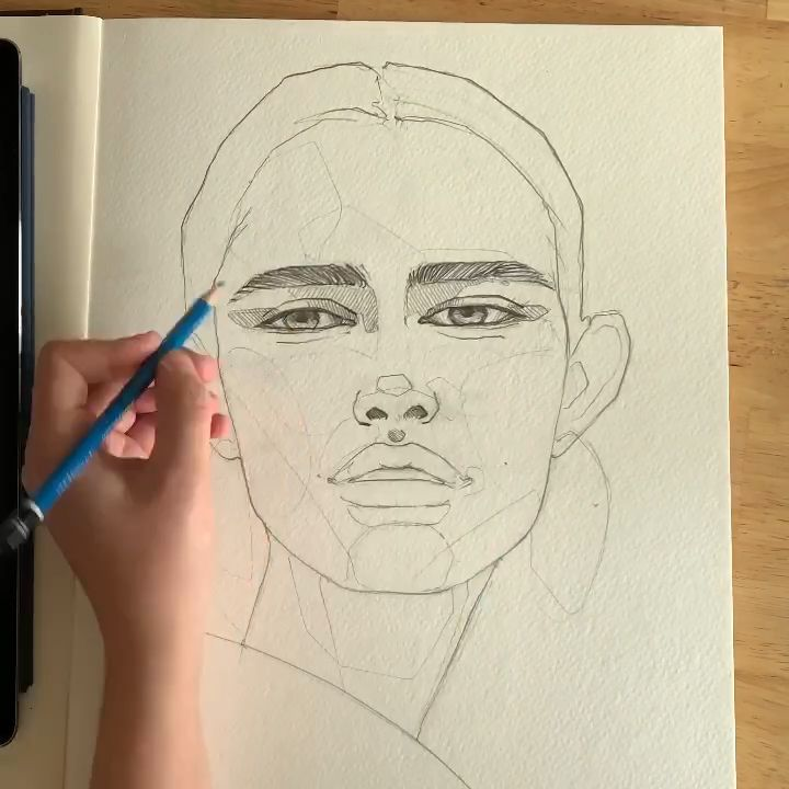 How to draw a portrait • by Polina Bright