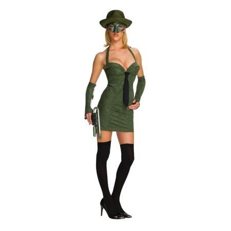 The Green Hornet Secret Wishes Green Hornet Adult Costume, Women's, Size: XS, Multicolor