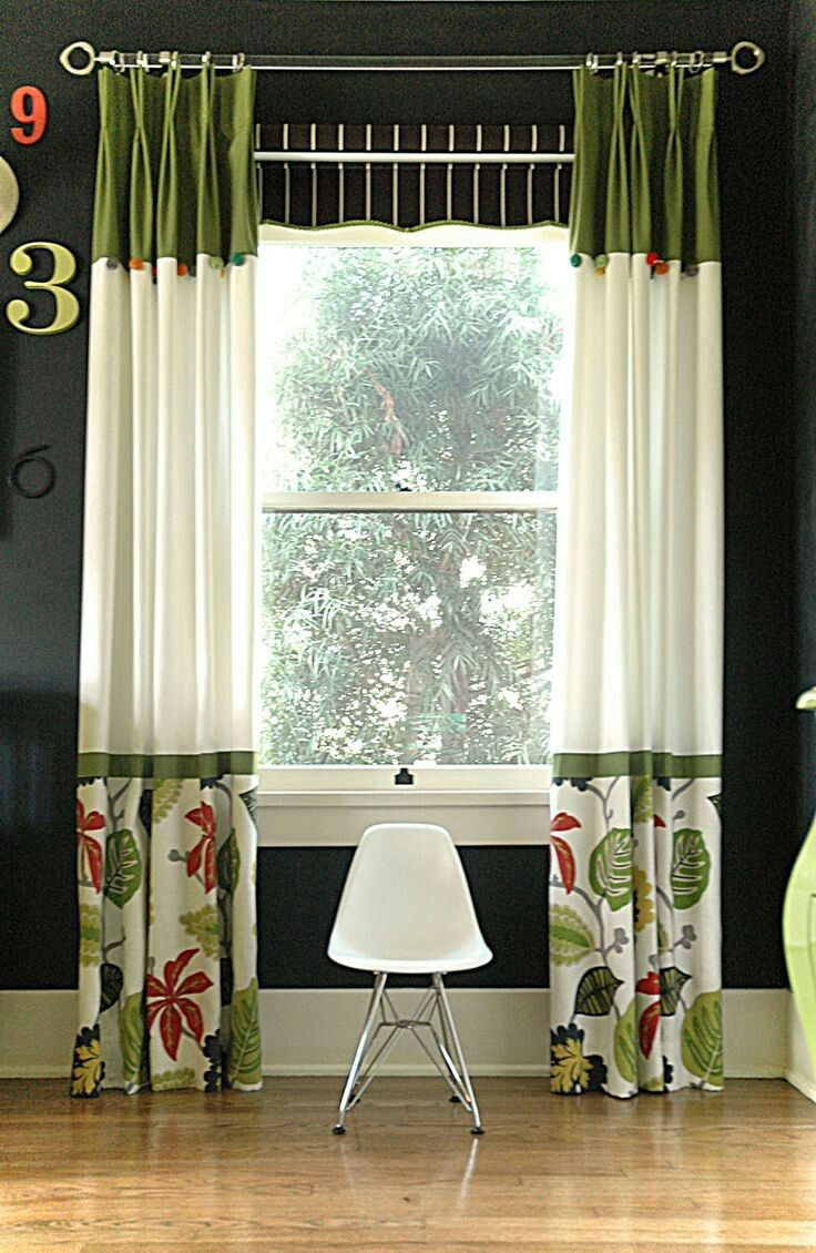 Green curtains crossword - Color Blocked Curtains With Ribbon For The Great Room